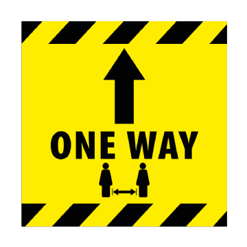 One Way - 350mm Square